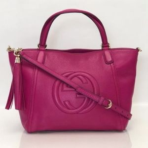 Gucci Soho Convertible Crossbody Tote in Hot Pink